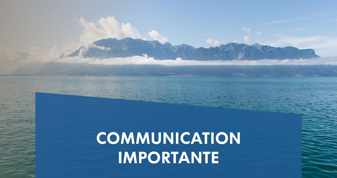 Communication importante: COVID-19